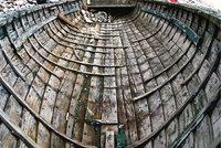 Spant - Spante im Innern eines Bootes
