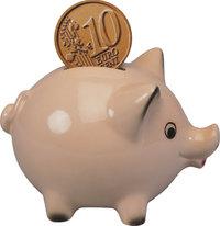 Sparkasse - Sparkasse in Form eines Schweins