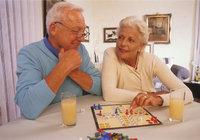Spiel - Mann und Frau bei einem Spiel