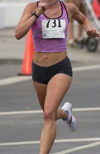Startnummer - Läuferin mit der Startnummer 731