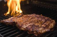 Steak - Steak auf einem Grill