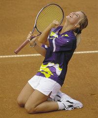 Stellung - Sportlerin in kniender Stellung