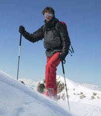 Stock - Skifahrer mit zwei Stöcken