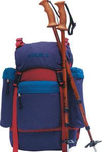 Stock - Rucksack und zwei Stöcke