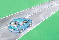 Straße - Auto auf einer Straße