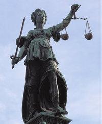 Symbol - Justitia als Symbol der strafenden Gerechtigkeit