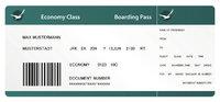 Ticket - Ticket für einen Flug