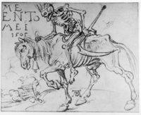 Tod - Der Tod als Sensenmann auf einem Pferd
