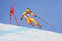 Tor - Skifahrer neben einem Tor