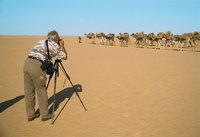 Tourist - Tourist beim Fotografieren einer Karawane