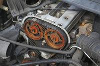 Treibriemen - Motorblock mit Treibriemen