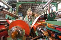 Tuchfabrik - Maschine in einer Tuchfabrik