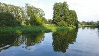 Ufer - Das grüne Ufer eines Flusses