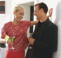 Unterhaltung - Unterhaltung von Mann und Frau