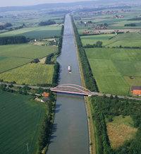 Verbindung - Kanal als Verbindung zweier Flüsse