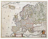 Verlauf - Historische Karte von dem Verlauf der Grenzen in Europa