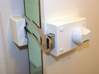 Verrieglung - Verriegelung an einer Tür