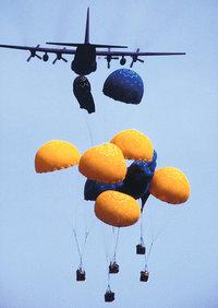Versorgung - Versorgung der Bevölkerung mit Lebensmitteln aus der Luft