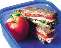 Vesperbrot - Vesperbrote und Apfel