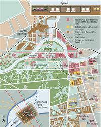 Viertel - Plan des Regierungsviertels