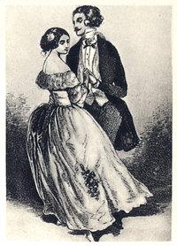Walzer - Einen Walzer tanzendes Paar
