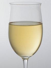 Weißwein - Weißwein in einem Glas