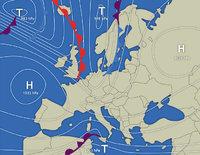 Wetterbericht - Karte eines Wetterberichts