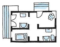 Wohnung - Grundriss einer Wohnung