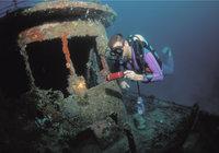 Wrack - Schiffswrack unter Wasser