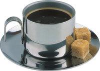 Würfel - Zwei Würfel Zucker und eine Tasse Espresso
