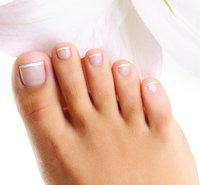 Zeh - Fuß mit fünf Zehen