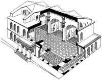 Zeichnung - Zeichnung einer Basilika