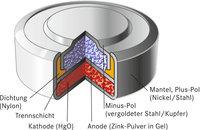 Zelle - Schema der Zelle einer Batterie