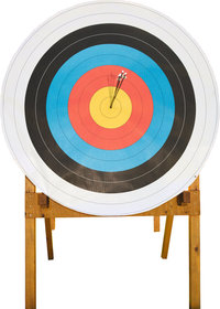 Ziel - Scheibe als Ziel beim Bogenschießen