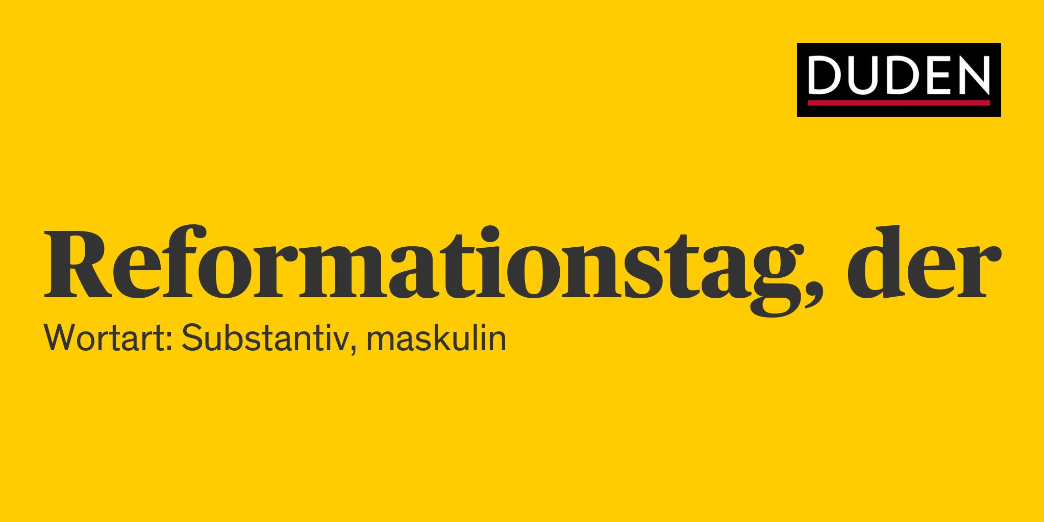Reformationstag Bedeutung