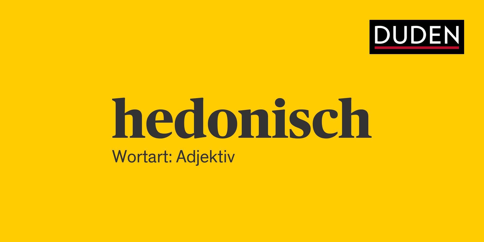 Hedonisch
