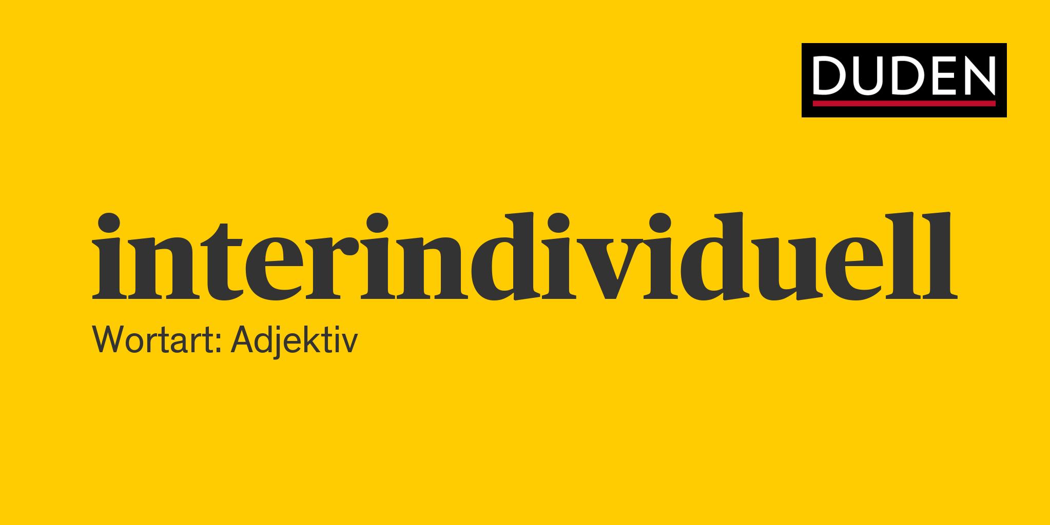 Interindividuell