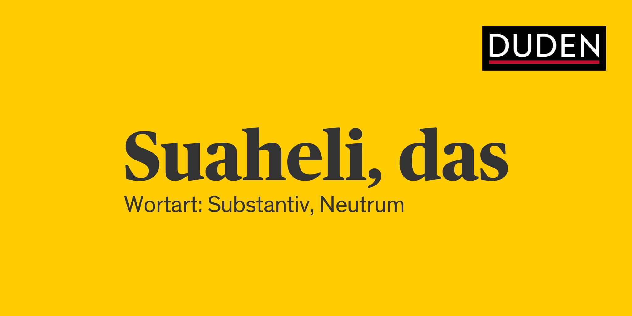 Suaheli Namen