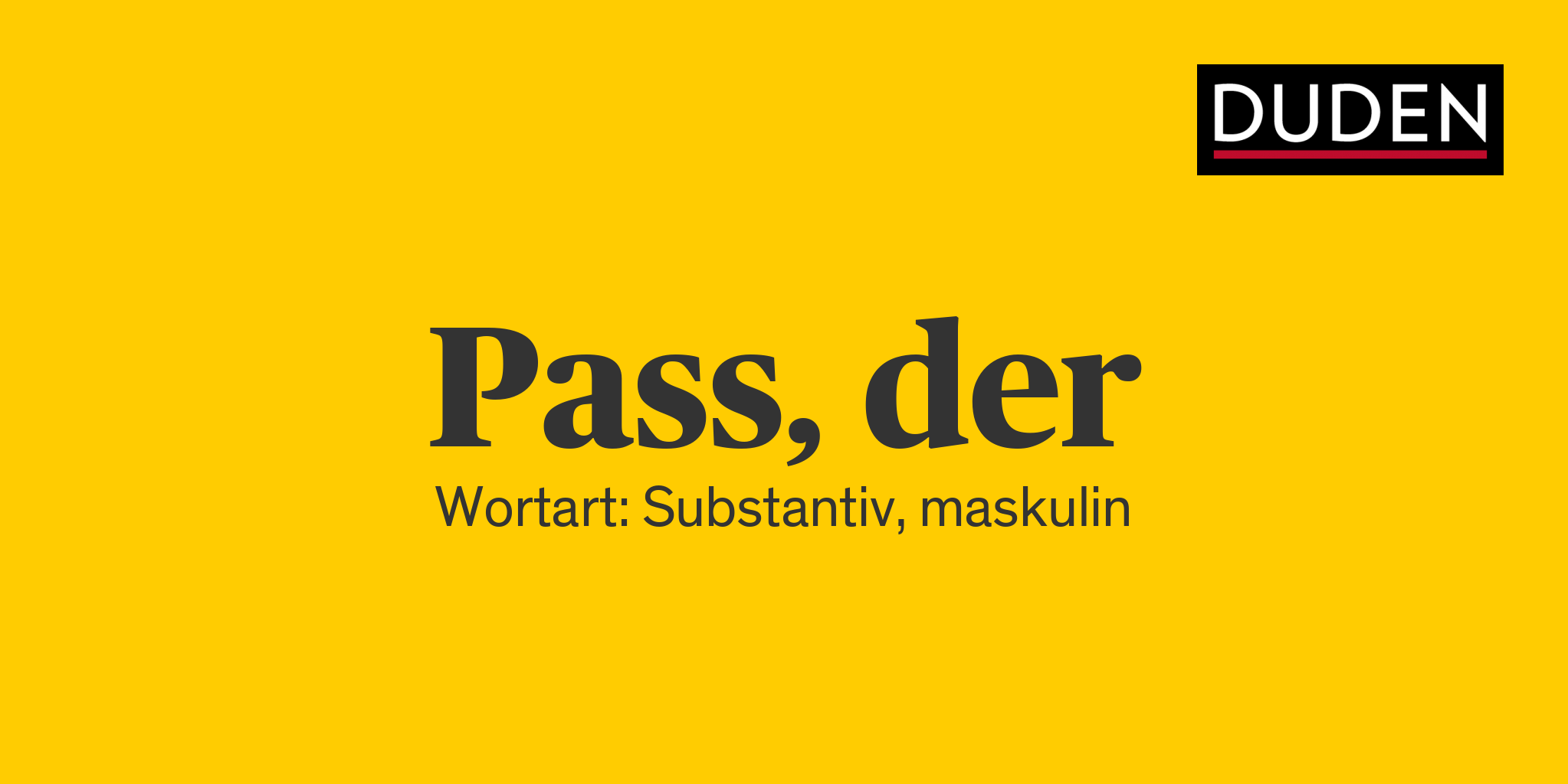 Pass Duden