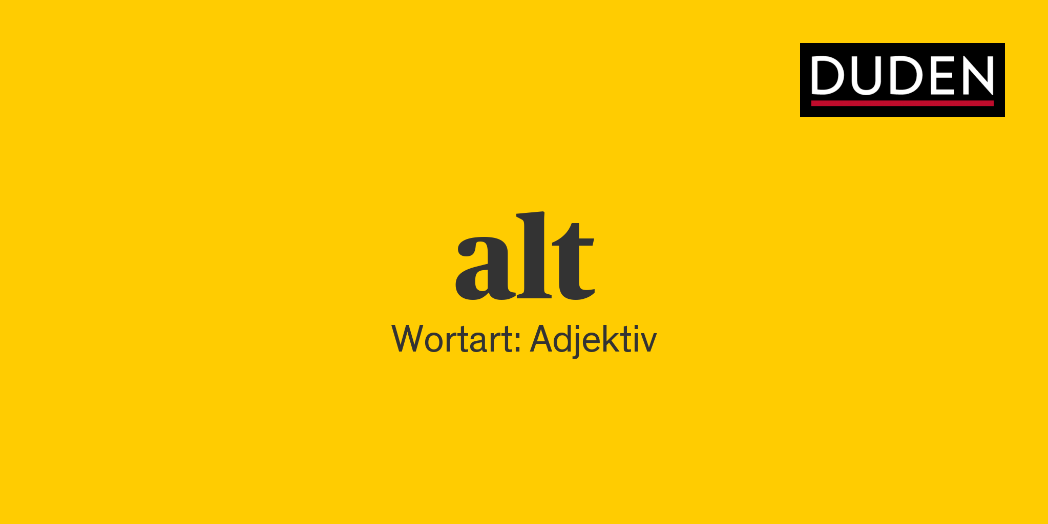 Synonyme Alt