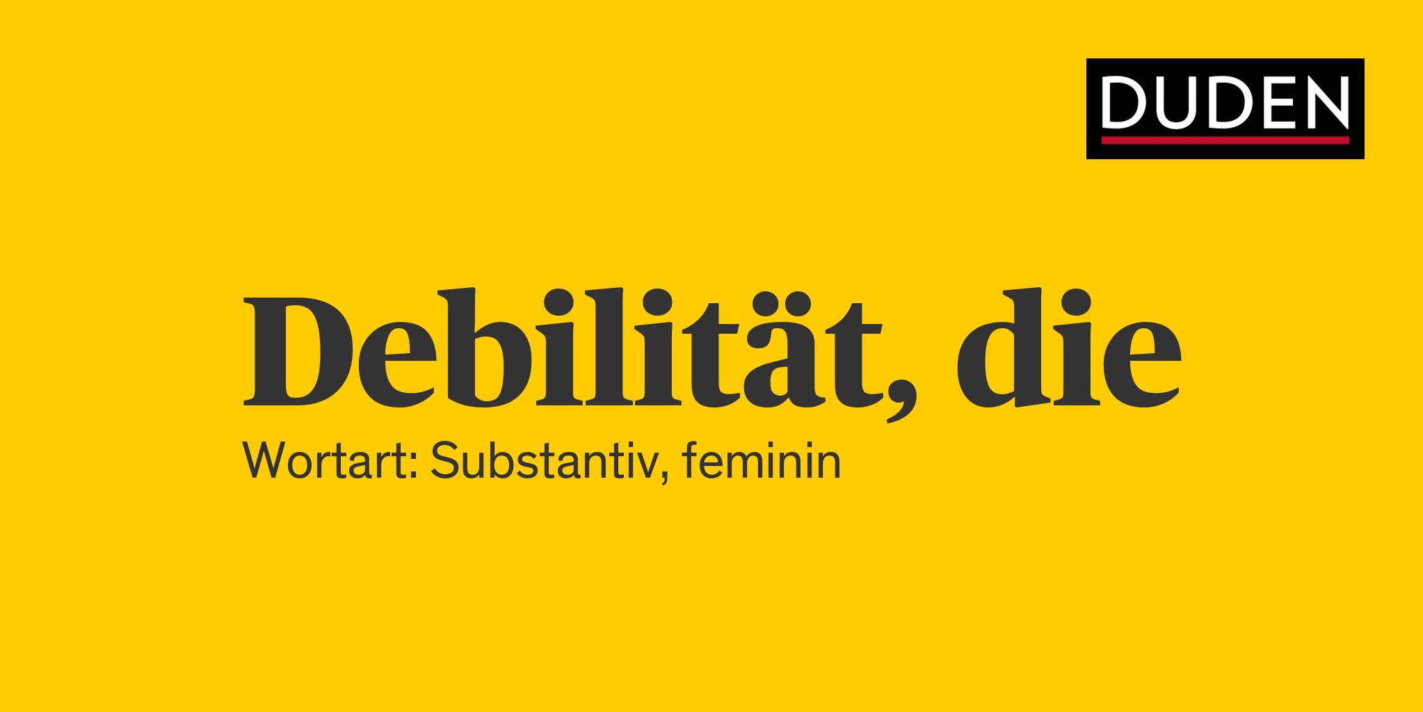 Debilität