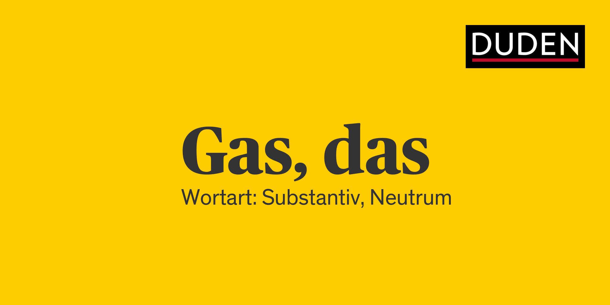 Gas Duden