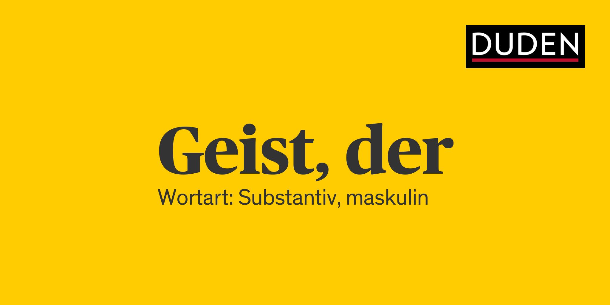 Definition Geist