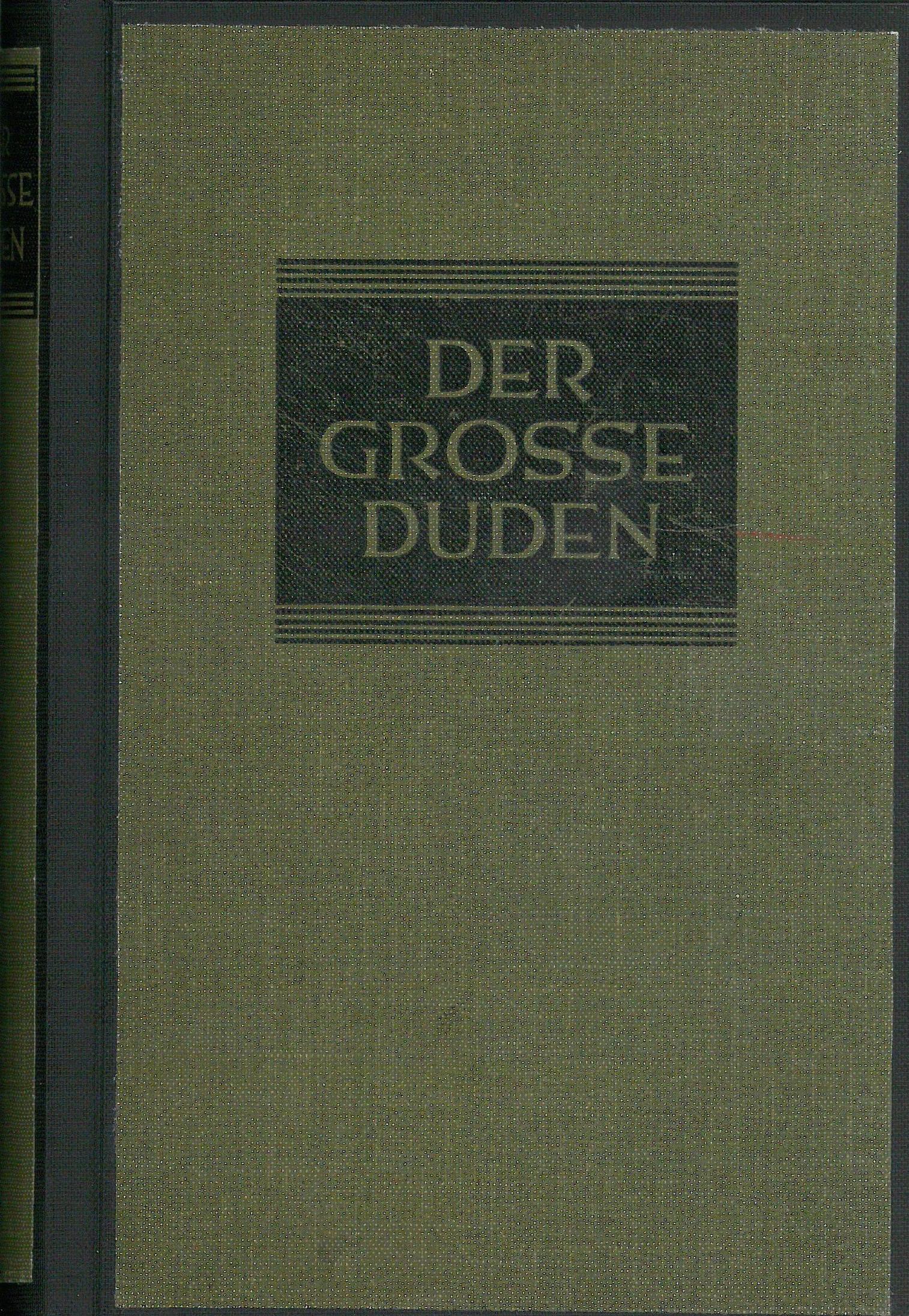 Buchcover Duden von 1929