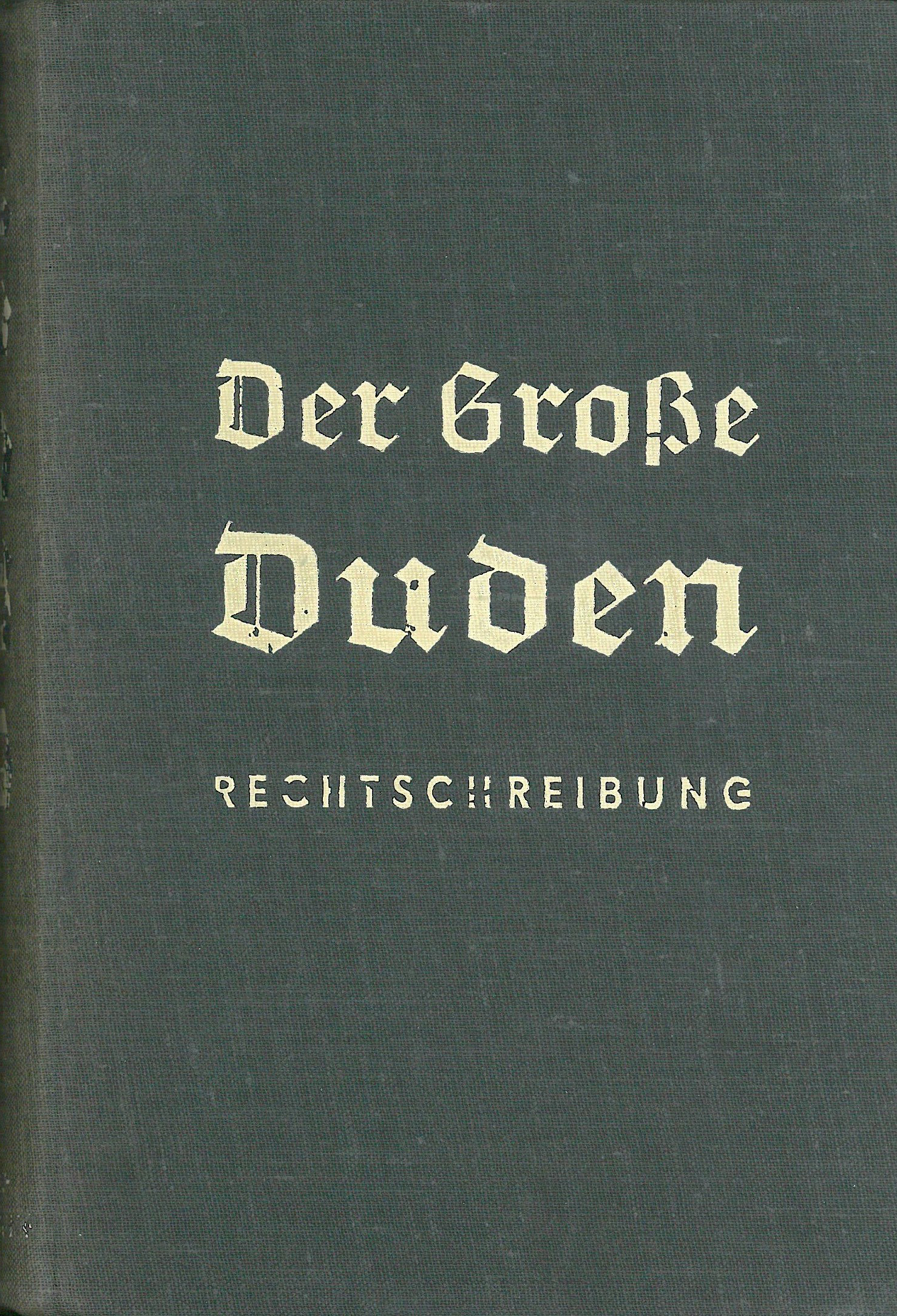 Buchcover Duden von 1934