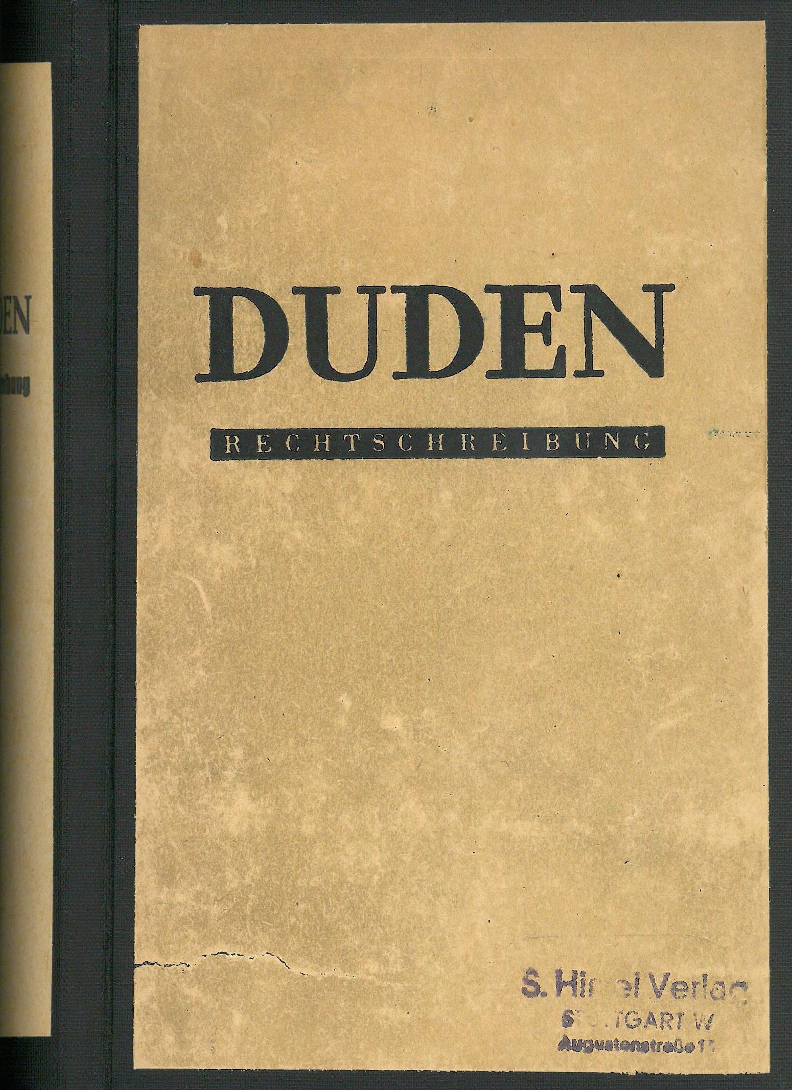 Buchcover Duden von 1947