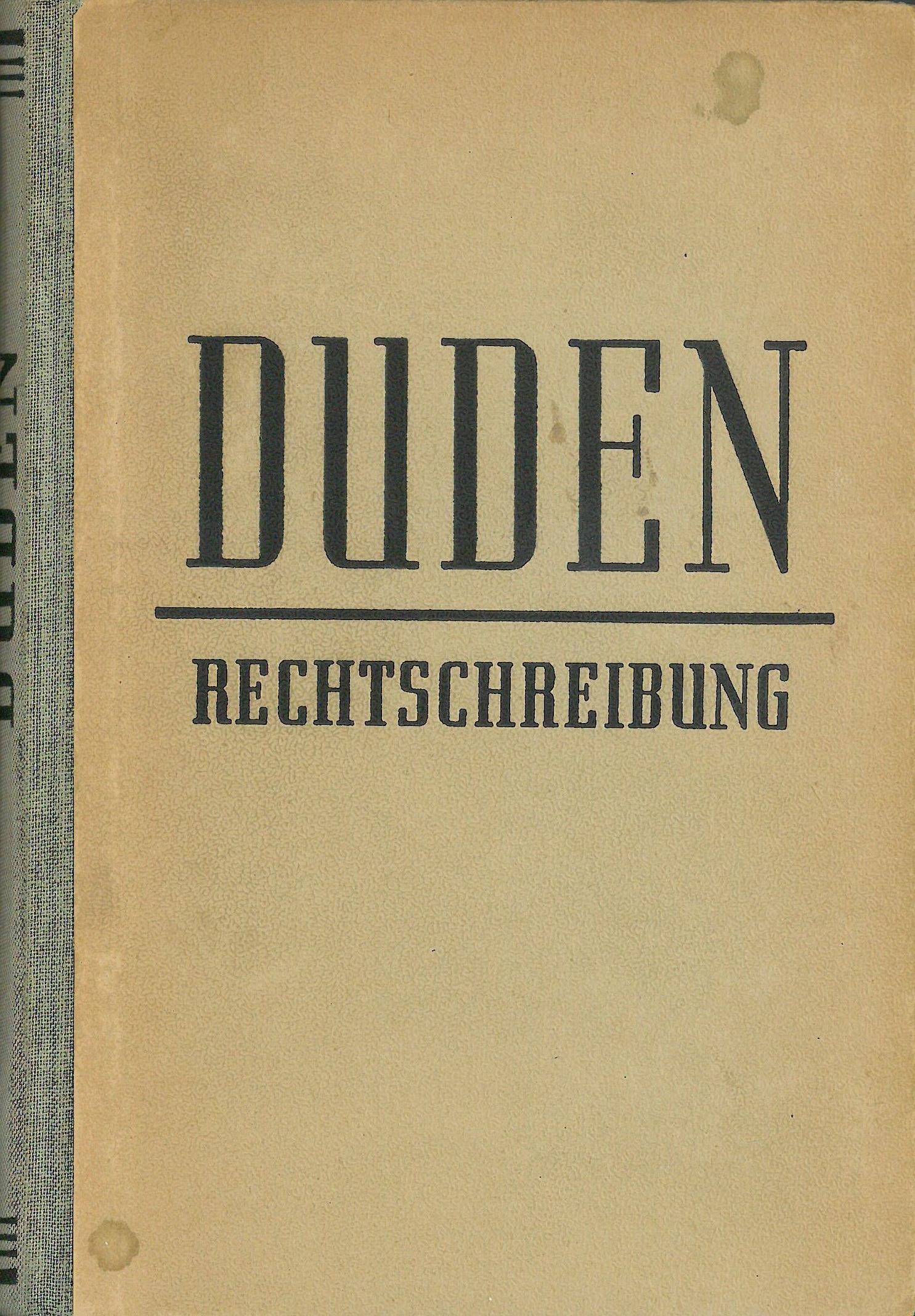Buchcover Duden von 1951 DDR