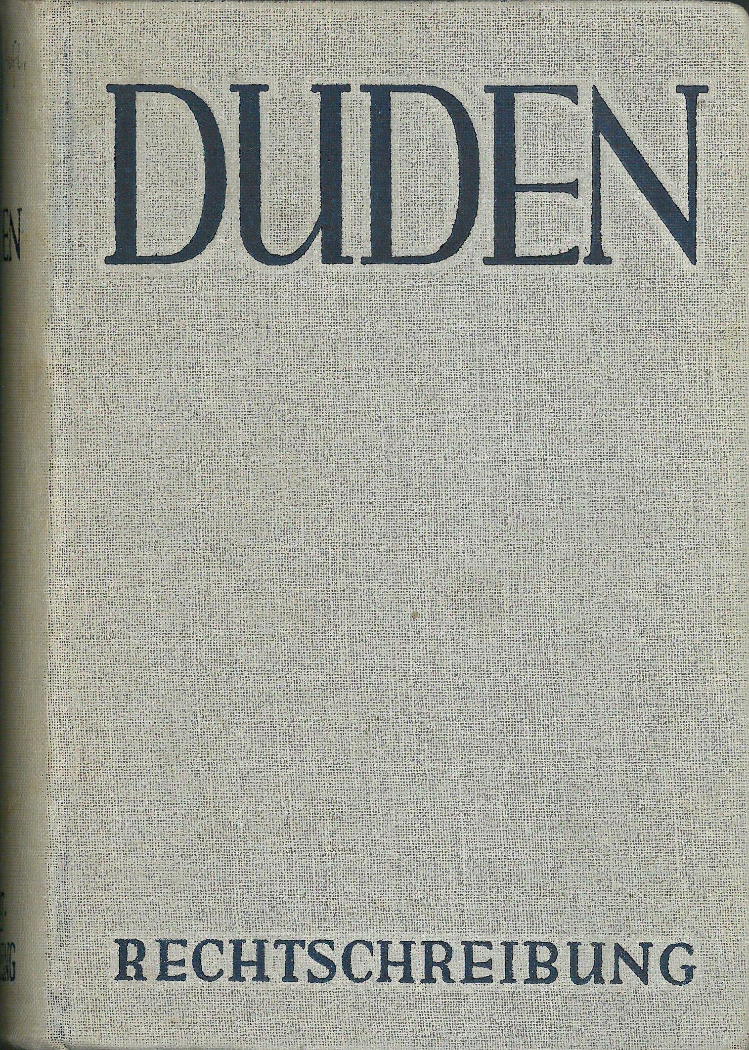 Buchcover Duden von 1954 BRD