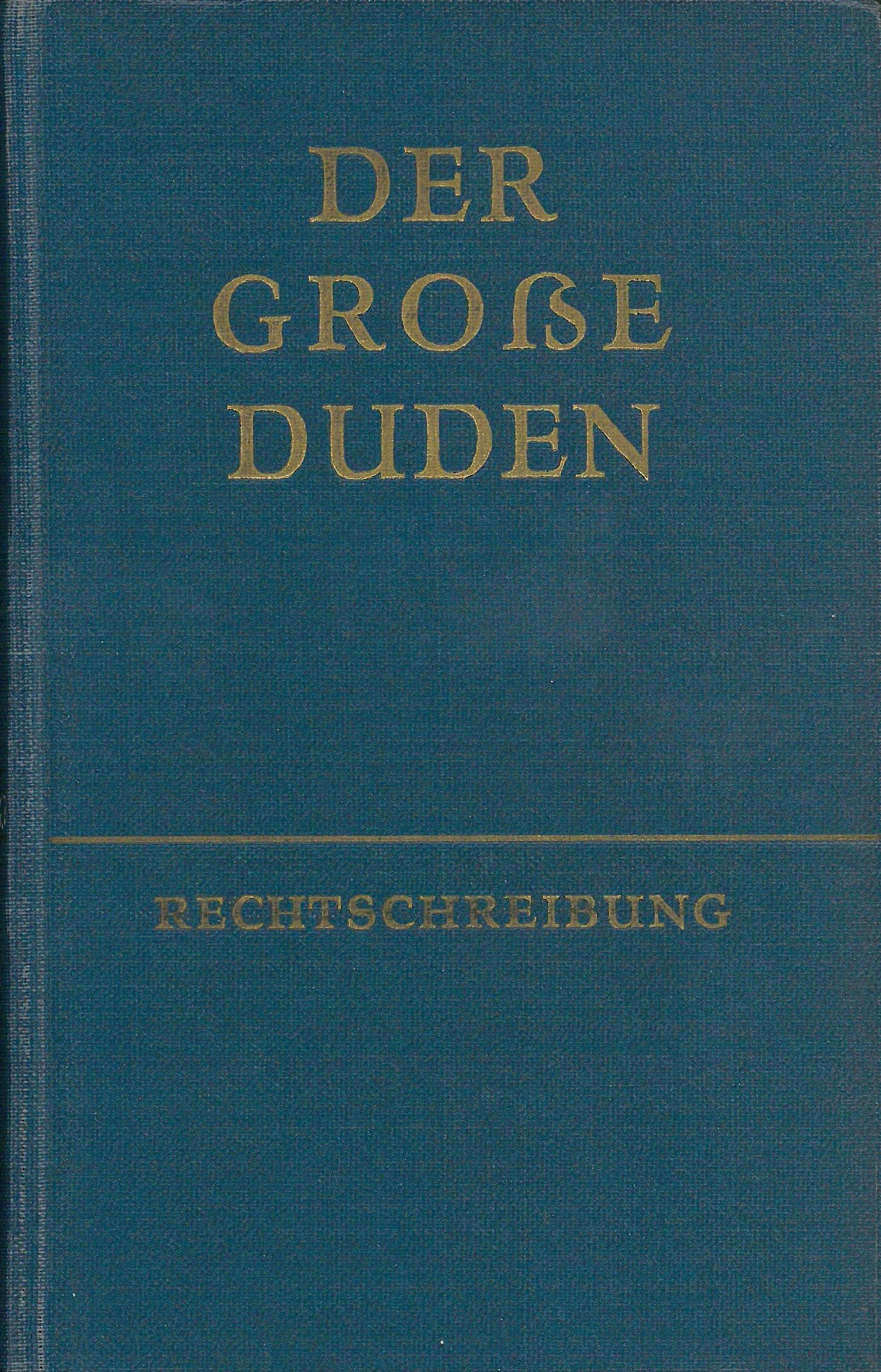 Buchcover Duden von 1957 DDR