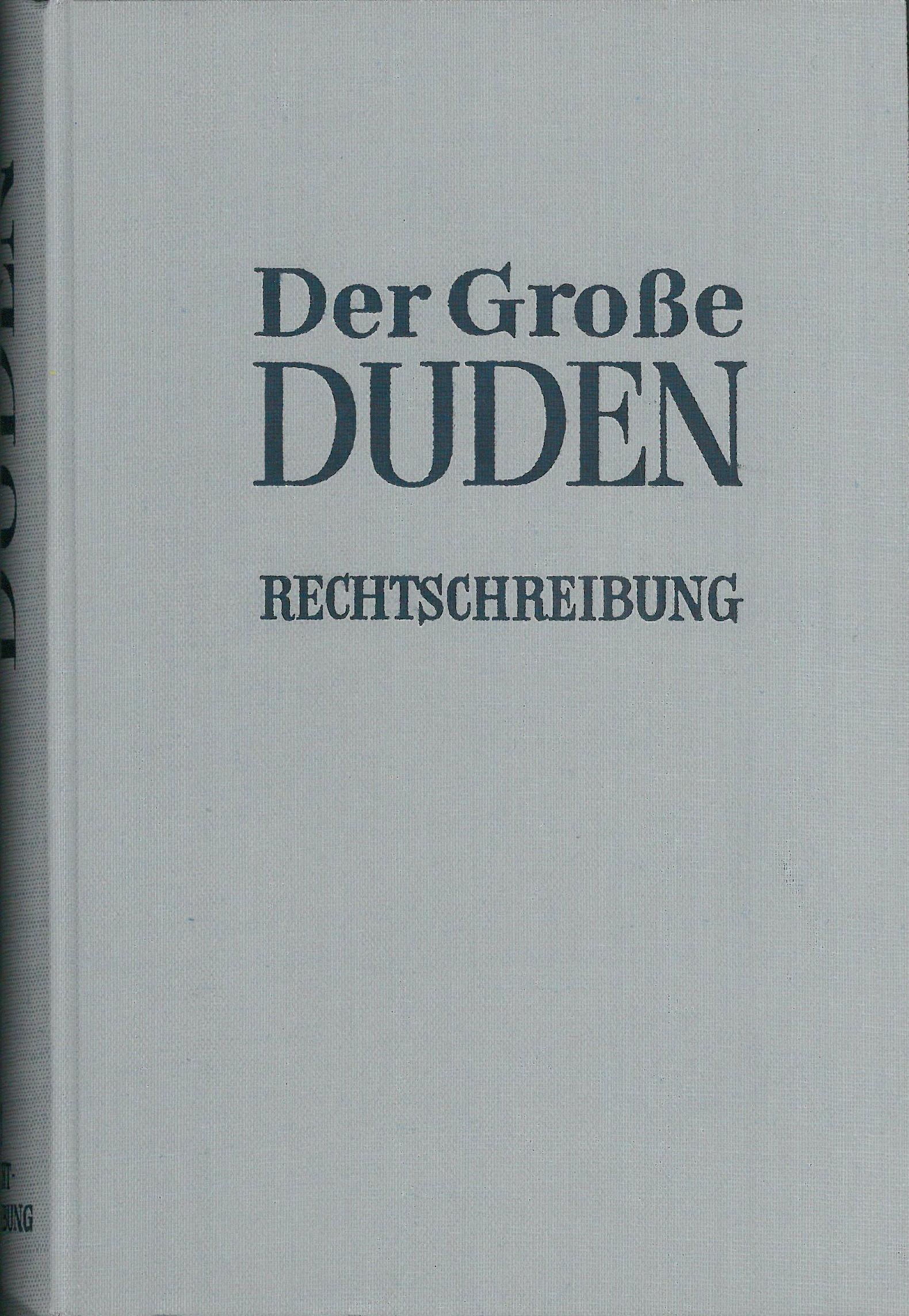Buchcover Duden von 1961 BRD